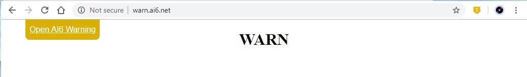 WARNING page drop down dismissed
